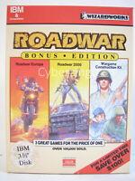 """Roadwar Bonus Edition Computer Game Wizardworks Vintage Software 3 1/2"""" Disks"""