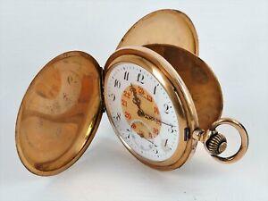 MONARD System Glashütte Taschenuhr Savonette 14k (585) Gold Vintage / Antik
