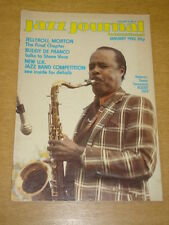 JAZZ JOURNAL INTERNATIONAL VOL 35 #1 1982 JANUARY BUDDY TATE JELLYROLL MORTON