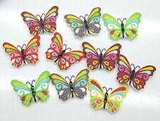 Lot of 10 BUTTERFLY 2-hole Wooden Button 17 x 24mm Scrapbook Crafts (9009)