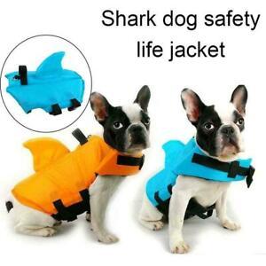 Dog Life Vest Summer Shark Pet Life Jacket Dog Clothes Swimwear Dogs Swim V5J8