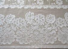 "Sheer Window Curtain Panel 55""W x 82""L Off White Rod Pocket 1-Piece NWOT"