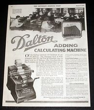 1919 OLD MAGAZINE PRINT AD, DALTON ADDING-CALCULATING MACHINES, DO FIGURE WORK!