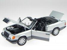 Mercedes A124 300 CE-24 convertible silver diecast model car 183565 Norev 1/18