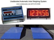 UNATTENDED AUTOMATIC TRUCK AXLE SCALE - 60,000 lbs TRUCK AXLE SCALE- MADE IN USA