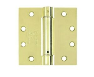 """Spring Hinge Single Action 4-1/2"""" x 4-1/2"""" Square Corner in 10 Finishes"""