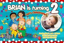 CAILLOU BIRTHDAY PARTY INVITATION PHOTO firt ticket CUSTOM CARD INVITE - C3