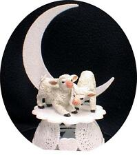 Cute Lamb Sheep Wedding Cake Topper Top  Country Western Barn Red Neck moon