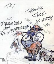 Jack Kinney Walt Disney BOOK SIGNED STROMBOLI DRAWING