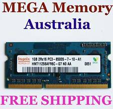 Hynix 1GB DDR3 PC3-8500 1066MHz LAPTOP Memory Ram @ SYD