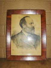 James A. Garfield Original Lithograph By J. H. Buffords Sons Boston & New York