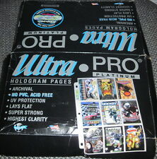 100 ULTRA PRO PLATINUM HOLOGRAM 9 POCKET TRADING CARD PAGES MADE IN USA NEW