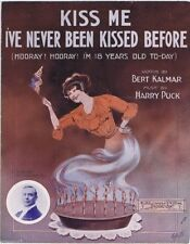 Kiss Me I've Never Been Kissed Before, Ed Morton photo, 1913 Vintage Sheet Music