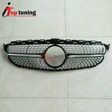 Front Bumper Grill Grille for Mercedes Benz AMG Sport W205 C200 C250 C300 C400