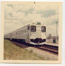 GO Transit Train Pickering Ontario Canada Vintage 1968 Color Photo Railroad