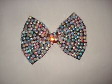 GIRLS BLACK HAIR BOW WITH STONES USED