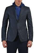 Prada Men's Two Button Blazer Sport Coat With Detachable Hood US S IT 50