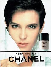 Publicité Advertising 107  1990  Chanel maquillage fond de teint Pur mat