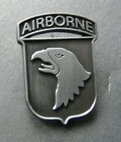 US ARMY 101ST AIRBORNE DIVISION PEWTER LAPEL PIN BADGE 1 inch