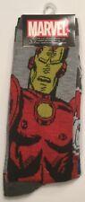 Two pairs IRON MAN & CAPTAIN AMERICA Crew Socks Men 6-12 Marvel Universe AVENGER