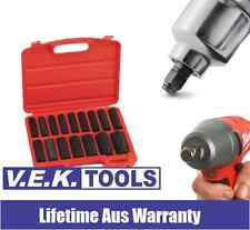 "GENIUS TOOLS H/DTY 16PC 1/2"" IMPACT SOCKET SET-SUITS 18V CORDLESS WRENCHES-SP KC"