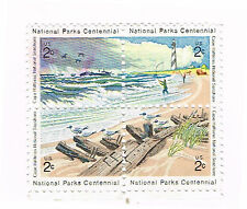 (15-559) 1 Beach Set (4) Se-tenant Cancelled  US  Postage sTamps