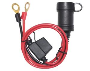 3FT Car Cigarette Female Lighter Plug Socket to Eyelet Terminals 12V Extension