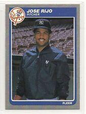 1985 Fleer - #143 - Rookie - Jose Rijo - New York Yankees