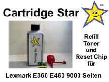 Refill Toner und Reset Chip für Lexmark E360 E460 9000 Seiten