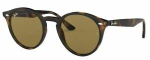 Ray-Ban Damen Herren Sonnenbrille RB2180 710/73 49mm havana braun rund RB8