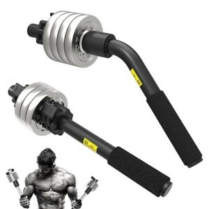 Arm Forearm Muscle Power Strength Trainer Dumbbell Bar Hand Grip Gym Home Fitnes