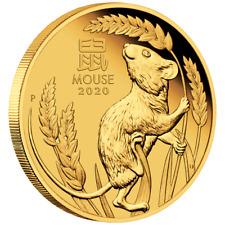 Australien 15 Dollar 2020 Jahr der Maus | Mouse (1.) Lunar III - 1/10 Oz Gold PP