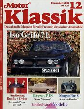 Motor Klassik 12/89 1989 Iso Grifo Morgan Plus 8 BMW R2 Borgward 2,3 HD FLH1200