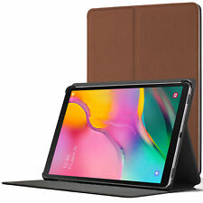 Samsung Galaxy Tab A 10.1 2019 Case Cover Stand | Brown + Stylus Protector