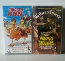 Chicken Run & Wallace & Gromit   VHS Video Tapes Family *Cheap * * Free Post *