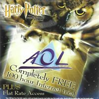 VINTAGE INTERNET: AOL CD ROM (HARRY POTTER & PHILOSOPHERS) - FAST WITH FREE P&P