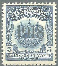 EL SALVADOR  TIMBRE municipal 5c  Neuf ★ / MH 1918