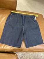 "GAP 1969 Denim Workwear Jeans Shorts Men's Size L 36"" Indigo Rinse 9"" Inseam"