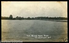 *985 - WHEATLEY Ontario 1910s Chatham-Kent. Beach from Pier.Real Photo PC..(3-17