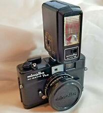 Minolta Hi-Matic 7SII BLACK Rangefinder Camera Rokkor 40mm f:1.7 Lens case flash