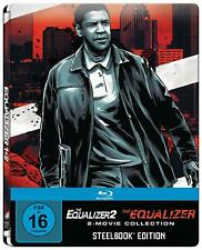 The Equalizer - Teil: 1 + 2 (Steelbook Edition)[Blu-ray/NEU/OVP] Denzel Washingt