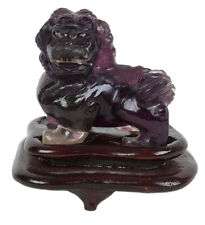 China 20. Jh Fluorit Löwe -A Chinese Hardstone Figure Of A Buddhist Lion Chinois