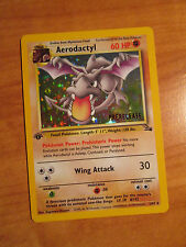 NM 1st edition AERODACTYL Pokemon PRERELEASE Stamped Card FOSSIL Set 1/62 Promo