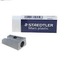 STAEDTLER MARS PLASTIC RUBBER ERASER & SINGLE HOLE METAL SHARPENER