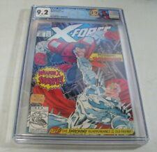 X-Force #10 CGC 9.2 1st team app. of The Externals, Deadpool cameo, custom label