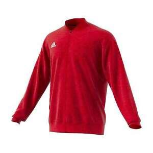 Men's Adidas Team Issue Bomber Fleece Climawarm Full Zip Long Sleeve Jacket