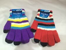 Polar Wear texting gloves 1 purple 1 red with stripes