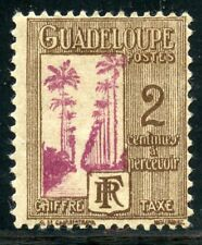 STAMP / TIMBRES COLONIES FRANCAISES NEUF GUADELOUPE TAXE N° 25 * Charnière
