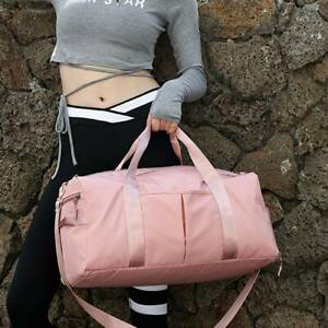 Ladies Girls Women Sports Gym Travel Bag Holdall Work Leisure Casual Pink Bag