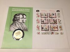 200. Geburtstag Brüder Grimm Numisbrief DDR 20 Mark 1986